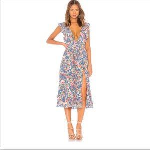 Majorelle Mistwood Blue Floral Dress